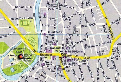 szentes térkép Liget Étterem szentes térkép